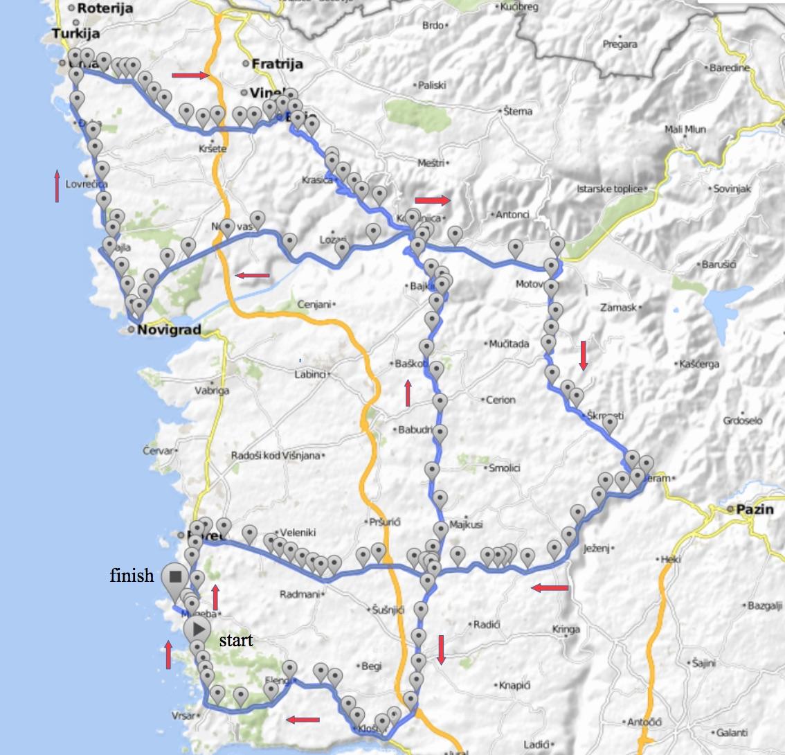 Gp Laguna Porec 2017 Mapa De La Carrera