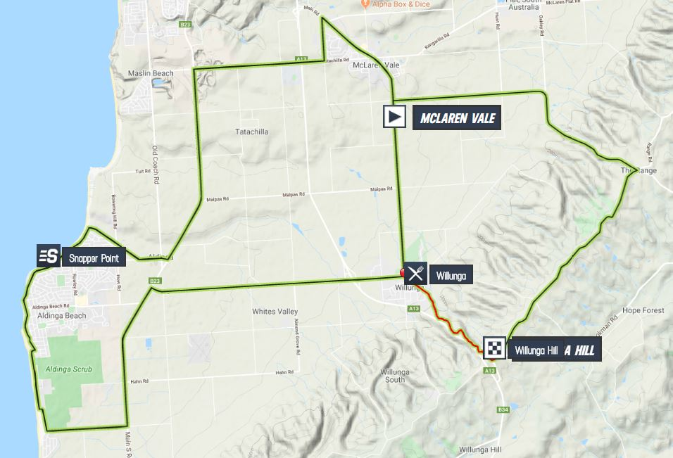 Santos Tour Down Under 2020 Tour-down-under-2020-stage-6-map-e4125aec15