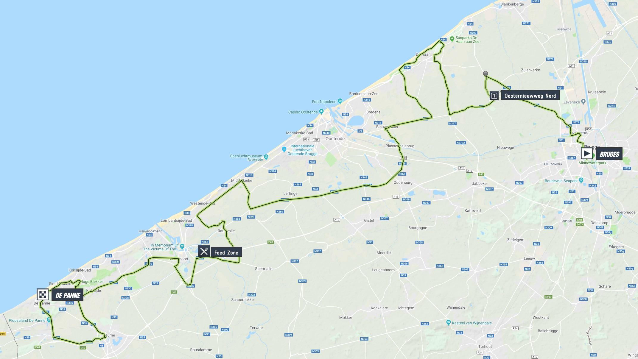 Driedaagse Brugge De Panne 2019 Mapa De La Carrera