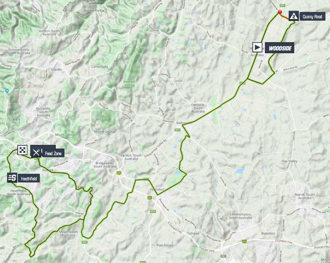 Santos Tour Down Under 2020 Tour-down-under-2020-stage-2-map-9d6b6087cd