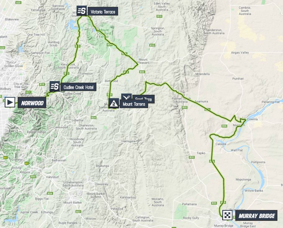 Santos Tour Down Under 2020 Tour-down-under-2020-stage-4-map-6e9397df3b