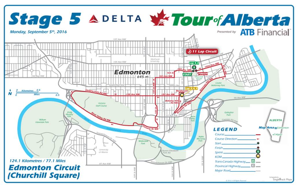 Tour of Alberta 2016 | Stage 5 | Stage/race profiles