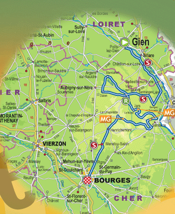 ParisBourges - Paris map 2016